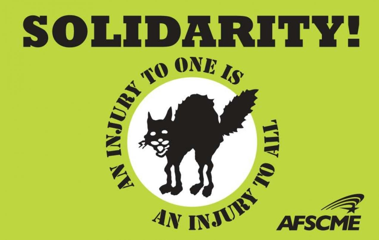 Solidarity AFSCME Sabo Cat An Injury to One is an Injury to All