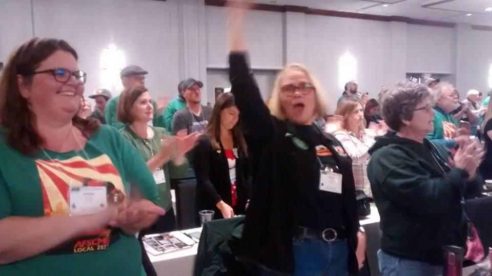 Excitement on the AFSCME Convention floor